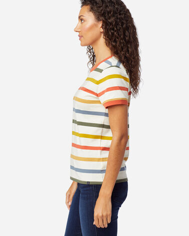 ALTERNATE VIEW OF WOMEN'S DESCHUTES RINGER TEE IN ANTIQUE WHITE MULTI