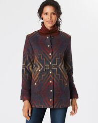 SUNRISE CROSS SNAP JACKET, BLUE MULTI, large