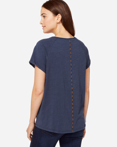 CAP SLEEVE EASY TEE, INDIGO, large