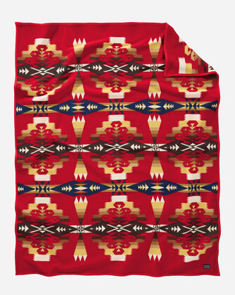 TUCSON BLANKET IN SCARLET