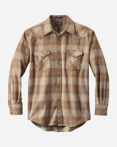 MEN'S FITTED SNAP-FRONT CANYON SHIRT IN TAN/GOLD OMBRE