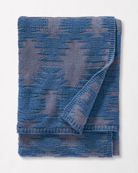 PAPAGO KNIT THROW, BLUE, large
