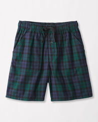 COTTON FLANNEL SLEEP SHORTS