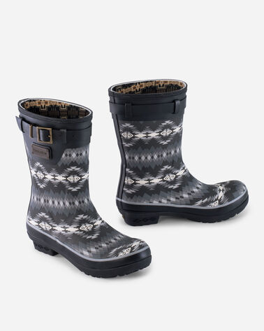 PAPAGO PARK PRINT SHORT BOOTS IN BLACK