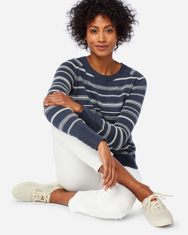 WOMEN'S TEXTURED STRIPE SWEATER
