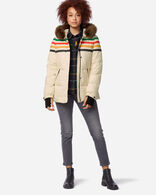WOMEN'S SHORT APRES DOWN PUFFER IN GLACIER IVORY