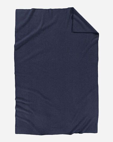 ALTERNATE VIEW OF ECO-WISE WOOL SOLID BLANKET IN NAVY HEATHER