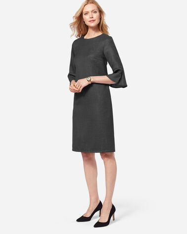 MAYA WOOL DRESS, CHARCOAL, large