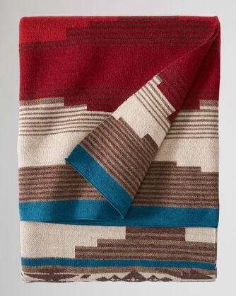 ALTERNATE VIEW OF ALAMOSA KNIT THROW IN RED