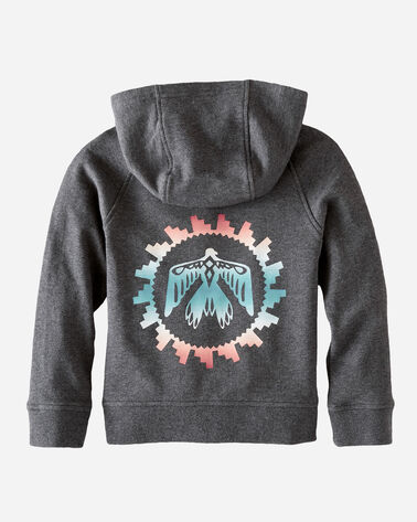ADDITIONAL VIEW OF KIDS' GRAPHIC HOODIE IN CHARCOAL HEATHER