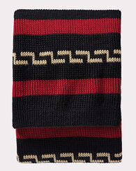 WESTERLEY KNIT THROW, BLACK, large