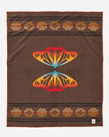 BUTTERFLY BLANKET, BROWN, large