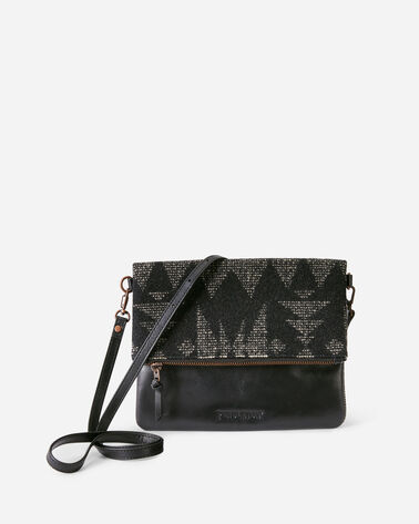 SONORA FOLDOVER CLUTCH IN BLACK