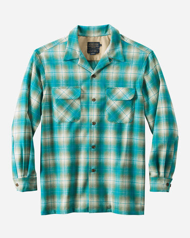 MEN'S BOARD SHIRT, TEAL/OLIVE OMBRE, large