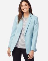 WOMEN'S SEASONLESS WOOL BLAZER IN DUSTY AQUA