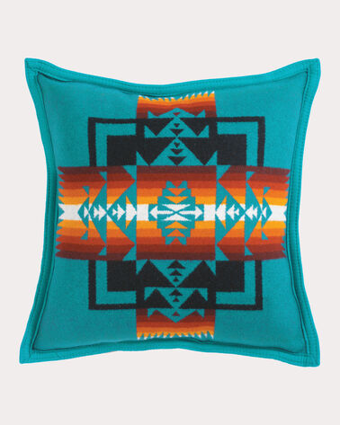 CHIEF JOSEPH PILLOW, TURQUOISE, large