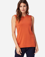WOMEN'S COLBY SLEEVELESS CREW IN SPICED ORANGE