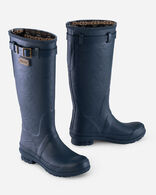HERITAGE EMBOSSED TALL RAIN BOOTS IN NAVY