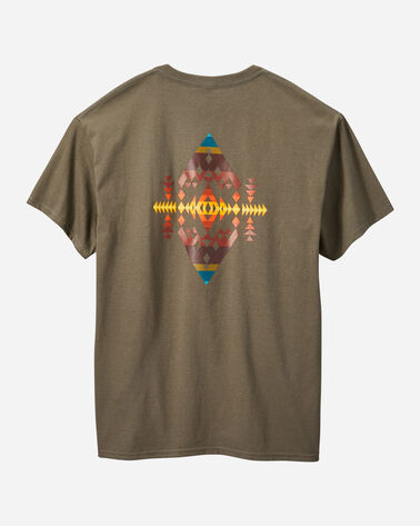 ALTERNATE VIEW OF MEN'S DIAMOND PEAK TEE IN BROWN