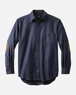 MEN'S FITTED ELBOW-PATCH TRAIL SHIRT in NAVY MIX
