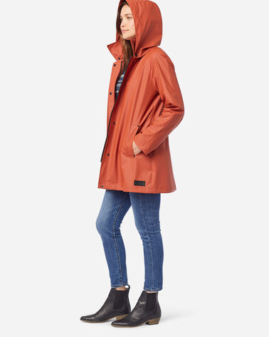 ALTERNATE VIEW OF WOMEN'S SONOMA WATERPROOF RAIN JACKET IN RUST