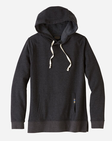 FRONT VIEW OF WOMEN'S ANORAK HOODIE IN OLYMPIC PARK CHARCOAL