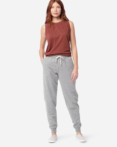 WOMEN'S JOGGER SWEATPANTS IN LIGHT GREY HEATHER