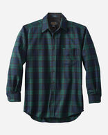 MEN'S FITTED LODGE SHIRT, BLACK WATCH TARTAN, large