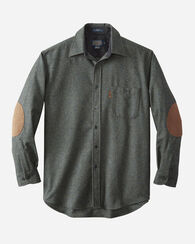 ELBOW-PATCH TRAIL SHIRT, BLUE/GREEN MIX, large