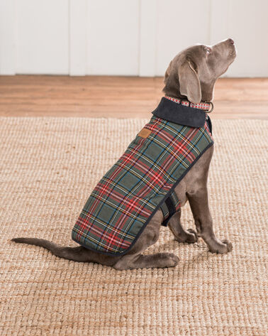 ADDITIONAL VIEW OF X-LARGE PLAID DOG COAT IN GREY STEWART