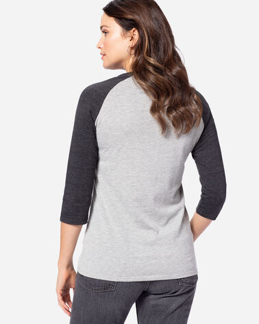 WOMEN'S 3/4-SLEEVE SURF BOARD TEE, GREY HEATHER, large