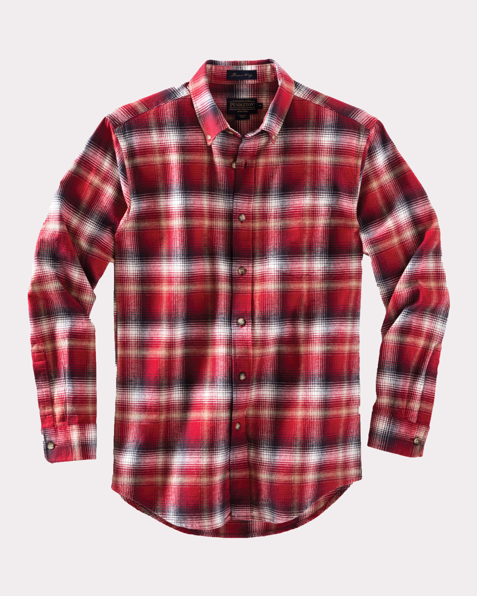 Fitted lister flannel shirt pendleton for How to wash flannel shirts