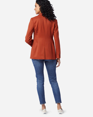 ADDITIONAL VIEW OF WOMEN'S SEASONLESS WOOL BLAZER IN PICANTE