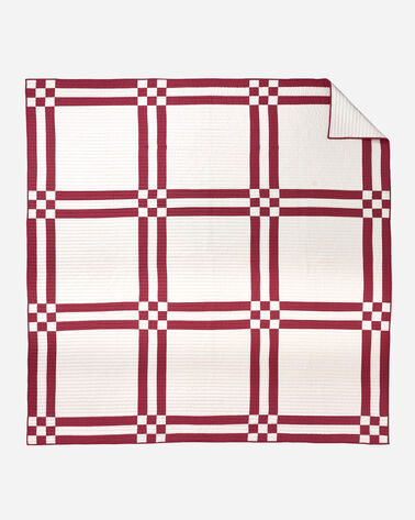 ADDITIONAL VIEW OF PIONEER HERITAGE PIECED QUILT SET IN IVORY