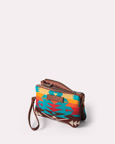 TUCSON THREE POCKET KEEPER, TURQUOISE, large
