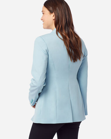 ALTERNATE VIEW OF WOMEN'S SEASONLESS WOOL BLAZER IN DUSTY AQUA