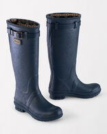 HERITAGE EMBOSSED TALL RAIN BOOTS, NAVY, large