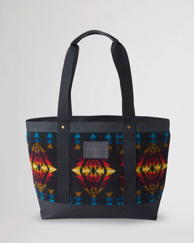 ZIP TOTE IN BLACK ECHO CANYON