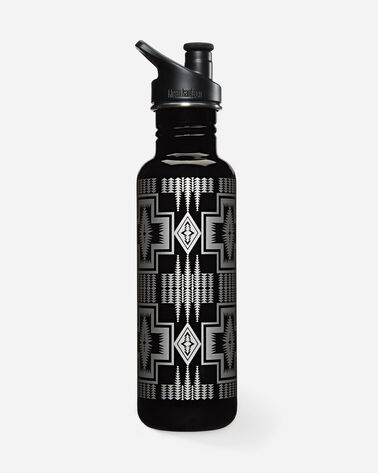 HARDING WATER BOTTLE IN BLACK/SILVER