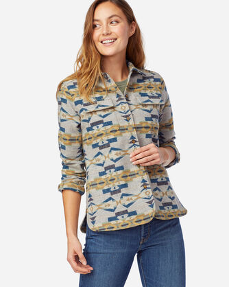 ALTERNATE VIEW OF WOMEN'S LIMITED EDITION JACQUARD BOARD SHIRT IN TAN CANYON CREEK