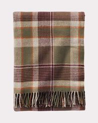 HAMPSHIRE PLAID LAMBSWOOL THROW, OLIVE, large