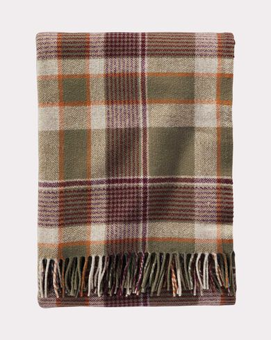 HAMPSHIRE PLAID LAMBSWOOL THROW