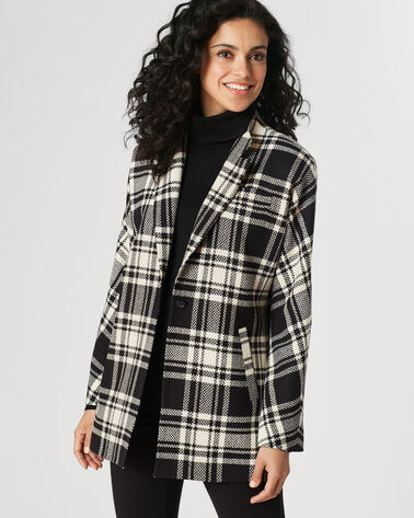 WILLHEM JACKET, BLACK/IVORY PLAID, large