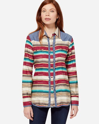 SERAPE WESTERN SHIRT, CRIMSON, large