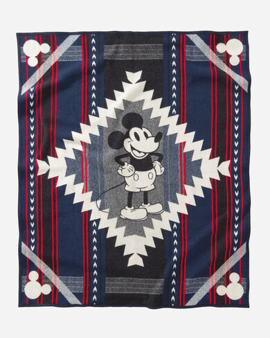 DISNEY'S MICKEY'S DEBUT THROW, BLUE, large
