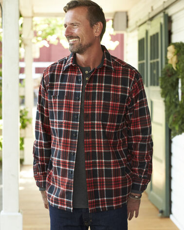 GAME DAY SHIRT, RED/BLACK PLAID, large