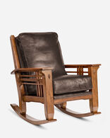 STAGECOACH LEATHER ROCKER IN STAGECOACH CHOCOLATE