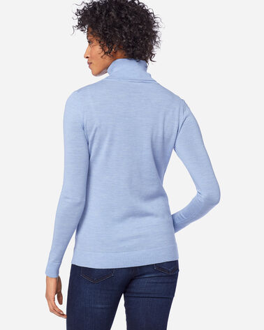ADDITIONAL VIEW OF WOMEN'S TIMELESS MERINO TURTLENECK IN SOFT BLUE