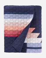 SUNSET CANYON PIECED QUILT SET, NAVY, large