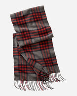 WHISPERWOOL MUFFLER IN GREY/RED PLAID